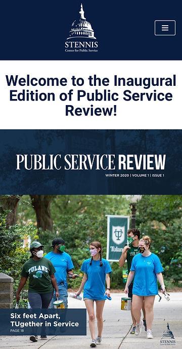 Stennis public service review