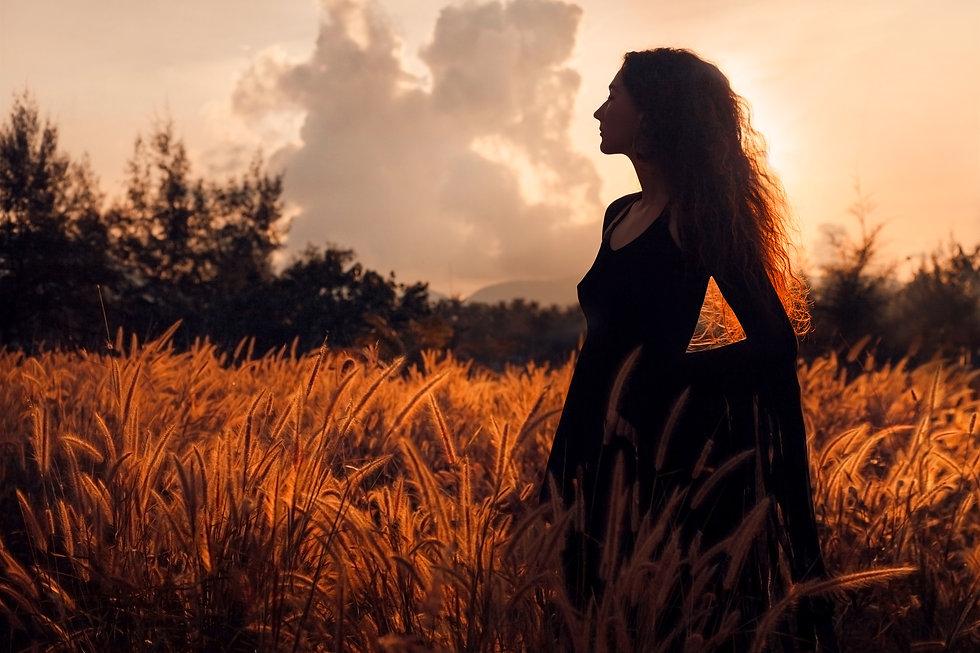 beautiful woman silhouette on sunset.jpg