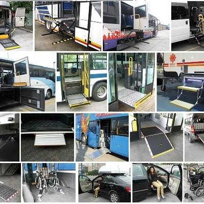 Монтаж подъмников на различные виды транспорта