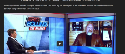 """""""GUNS, GUTS AND GLORY"""" INTERVIEW WITH ERIC BOLLING ON NEWSMAX"""
