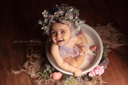Bain de lait bébé