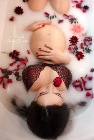 Bain de lait grossesse