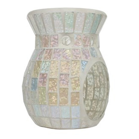 Ice White Lustre Mosaic Wax Melt Burner