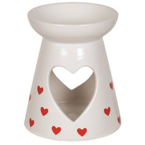Ceramic Wax Melt Burner Red Hearts