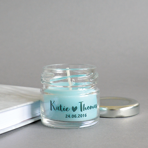 Personalised Wedding Favour Candle