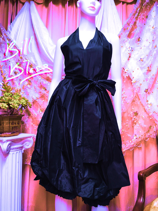 80s Bill Blass Taffeta Dress