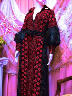 70s Lillie Rubin Embroidered Dress