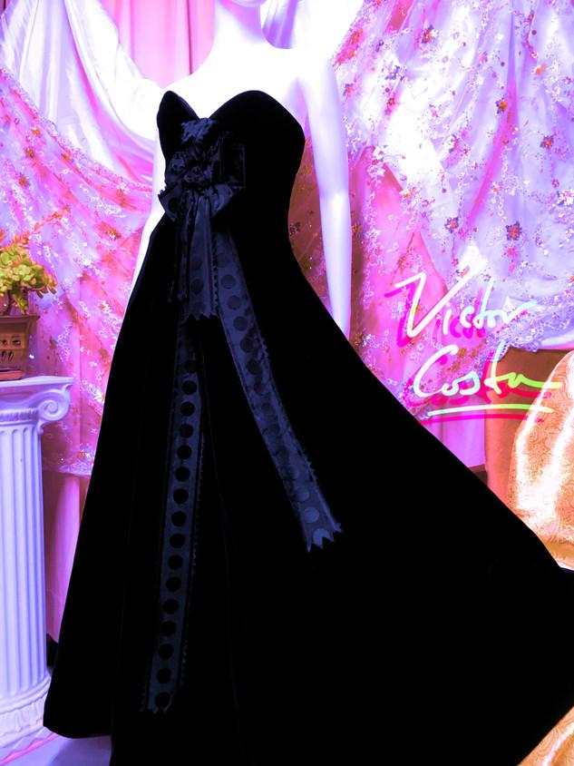 Victor Costa Velvet Ball Gown