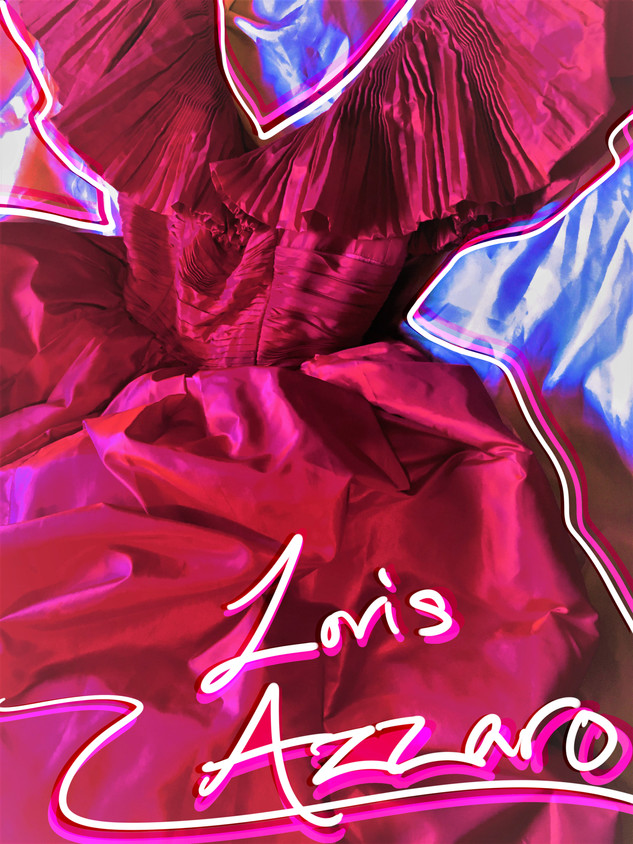 80s Loris Azzaro Taffeta Ball Gown from Giorgio Beverly Hills