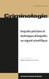 Revue criminologie