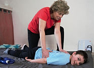 massage enfant autiste