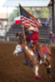 Penny and Rusty at Tejas Rodeo