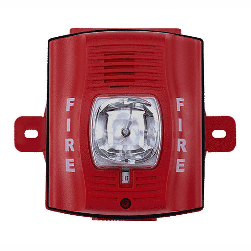 System Sensor P2RK 2-Wire, Outdoor Horn Strobe Red
