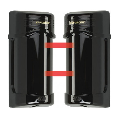 Seco-Larm E-960-D90Q Twin Photo Beam Detectors with Laser Beam Alignment - 90'