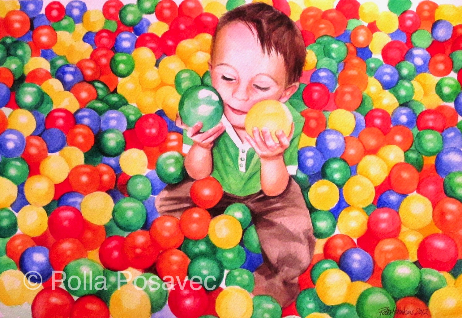 Lewis in the Ball Pit
