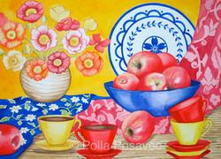 Still Life Vase of Poppies