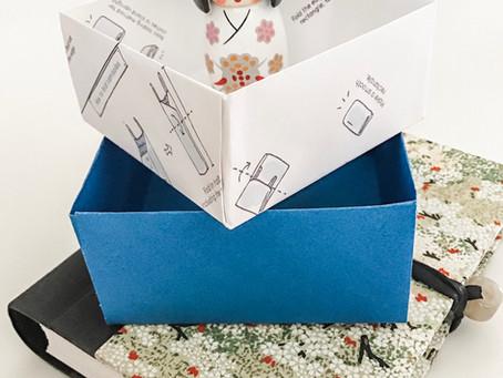 Making An Origami Masu Box