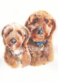 Rosie and Boris painting