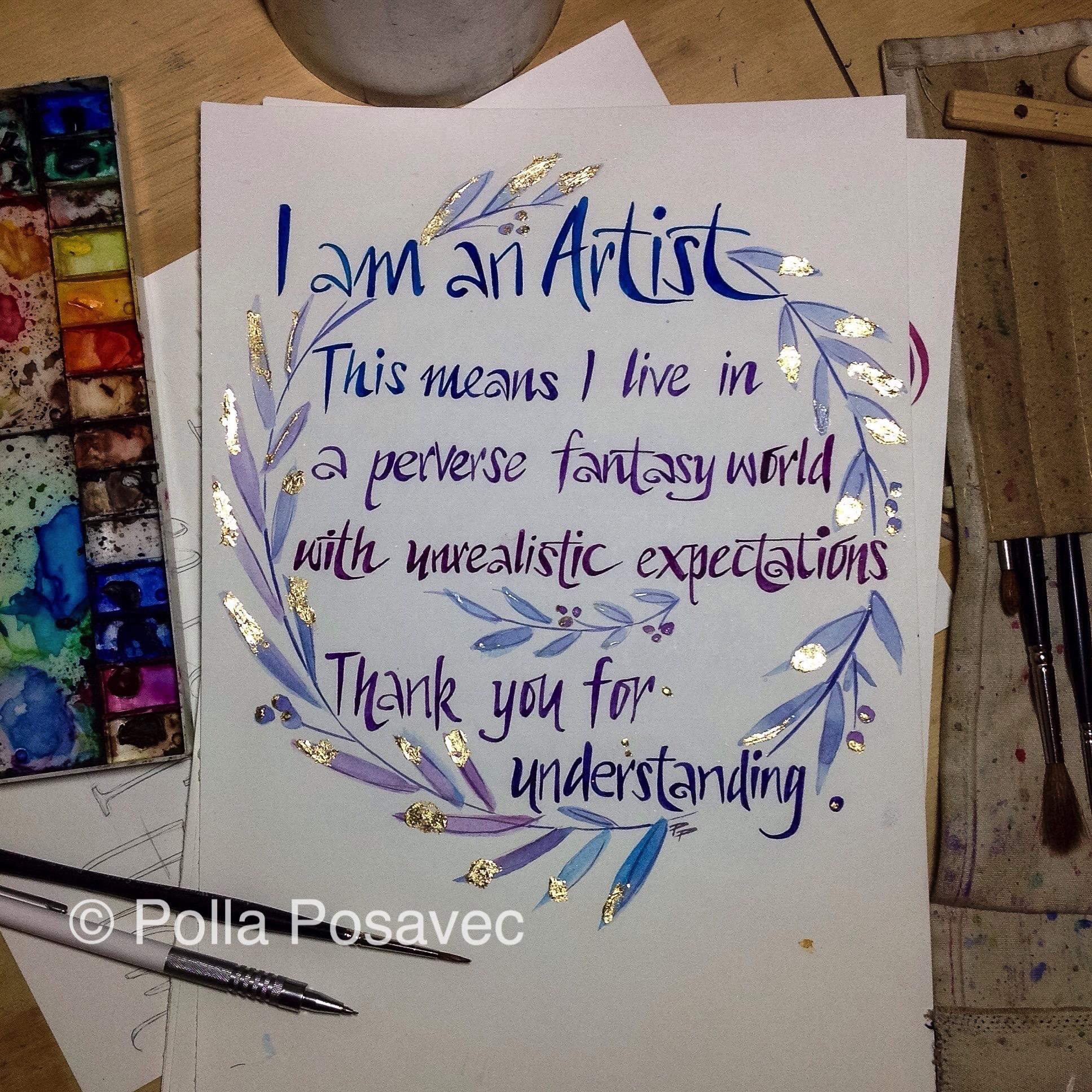 I am an artist WIP