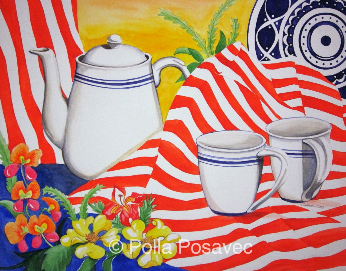 Still Life White Mugs