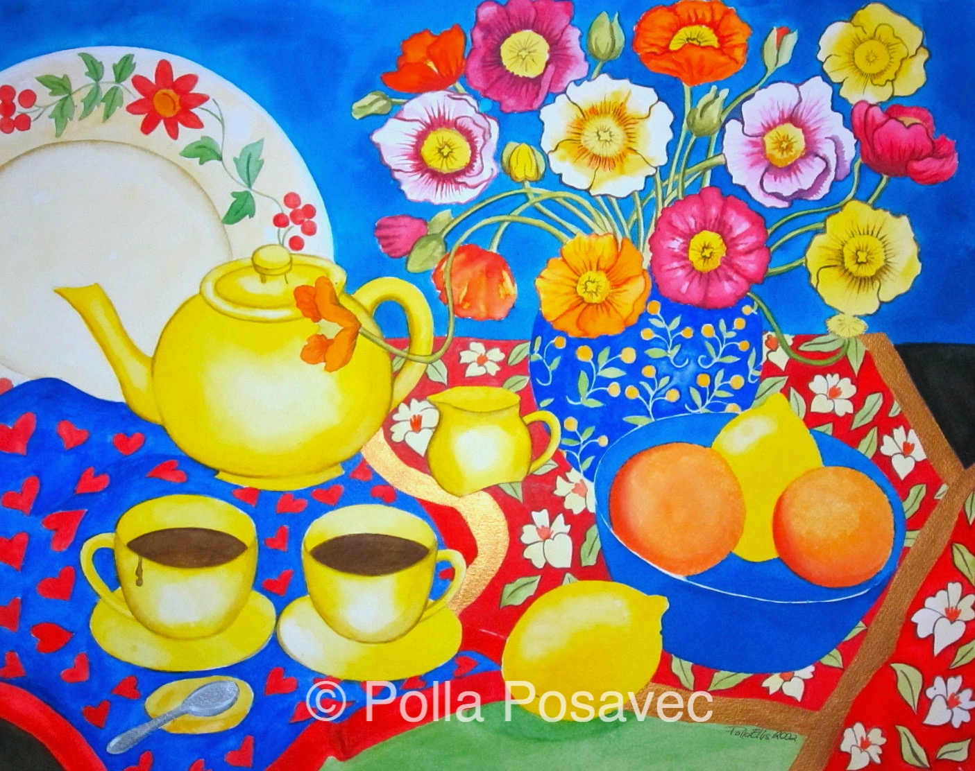 Still Life Yellow Teapot