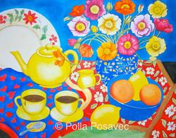 Still Life Yellow Teapot