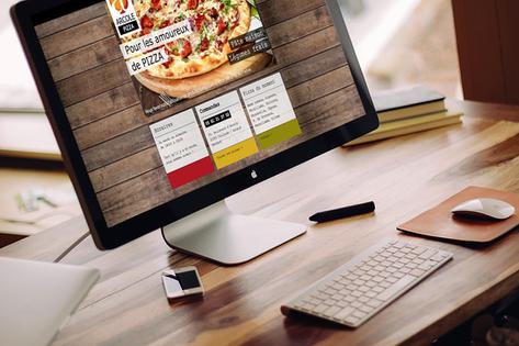 Création site internet : pizzas à emporter