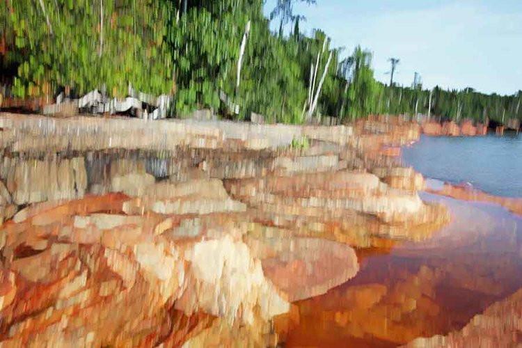 Rocky Shoreline of Devil's Island