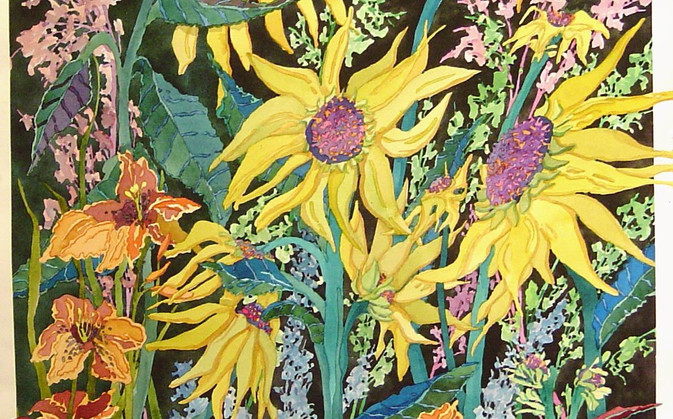 Sunflowers and Daylilies