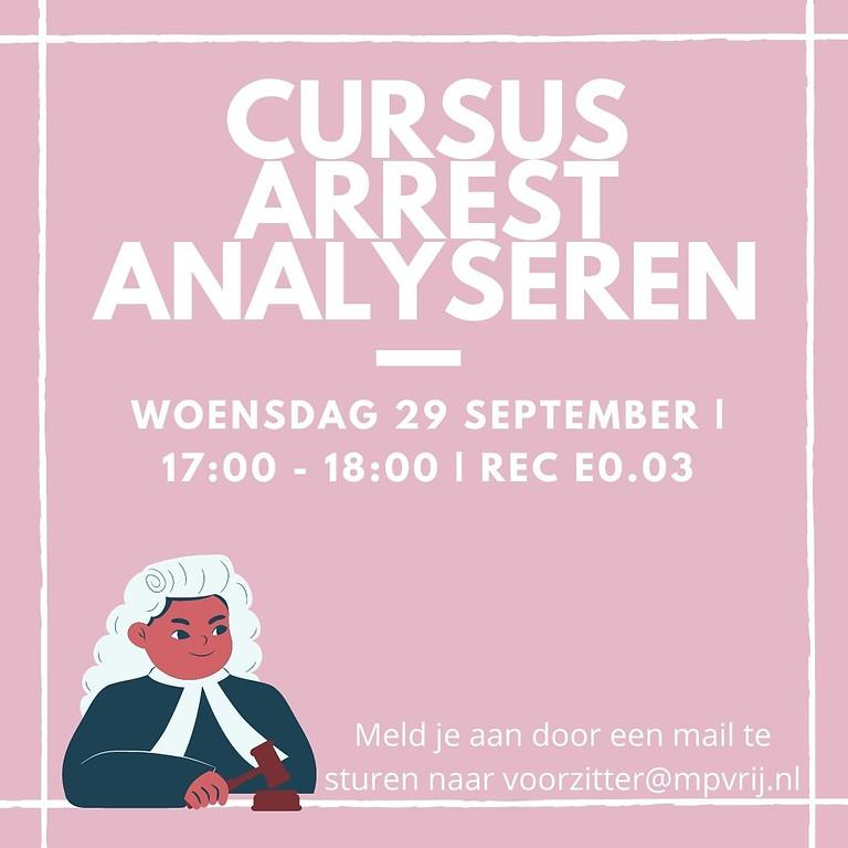 Gratis cursus arrest analyseren