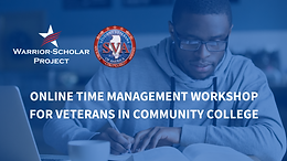 Free Online Time Management Workshop for Veterans in Community College
