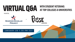 Virtual Q&A with Student Veterans at Top Colleges and Universities