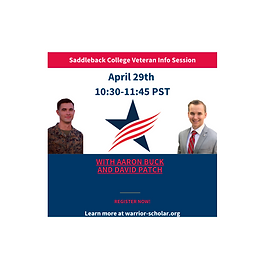 Saddleback College Veteran Info Session