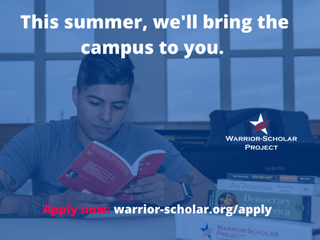 COVID-19 Update: Warrior-Scholar Project Summer Programming