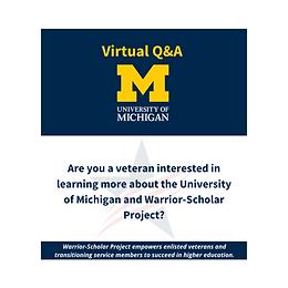 Virtual Q&A - University of Michigan
