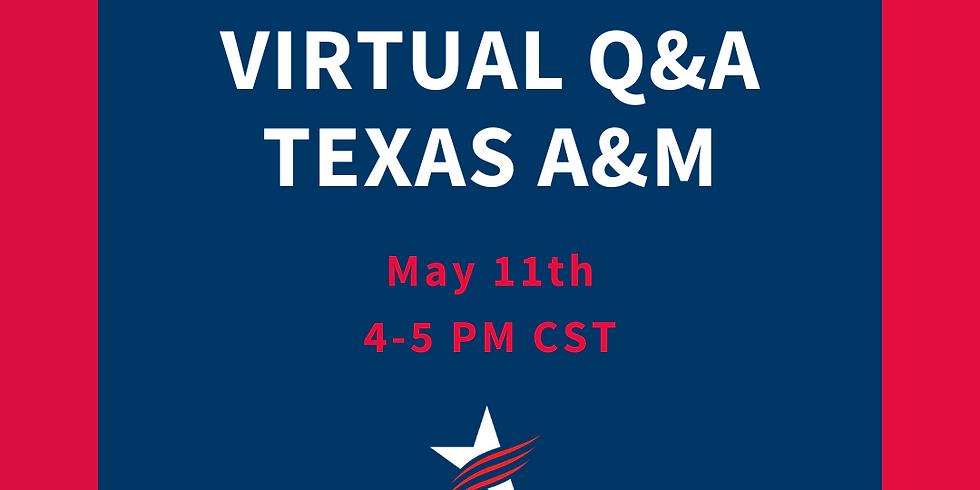 Virtual Q&A - Texas A&M