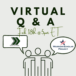 Virtual Q&A with Warrior-Scholar Project and Service 2 School