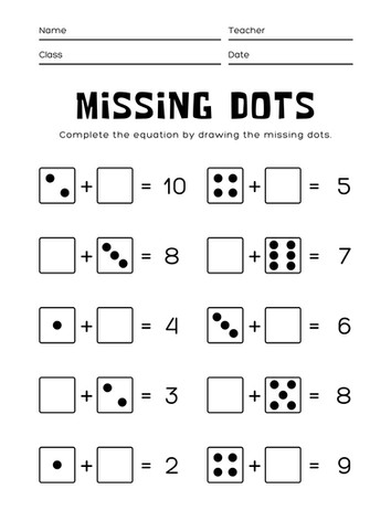 Counting Dots 3-5#9