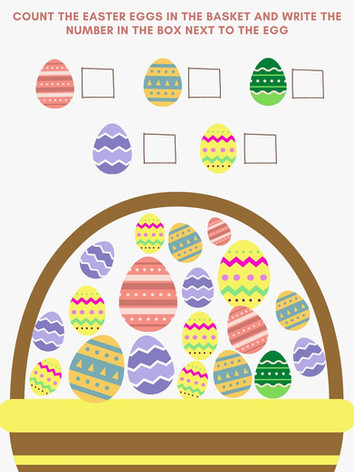 Cream and Blue Easter Eggs Easter Card.j