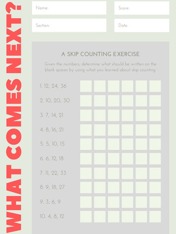 Counting pattern 6-8 #6