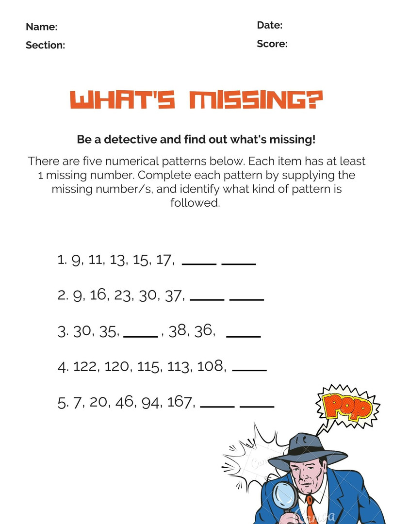 Missing Number Pattern 6-8 #5