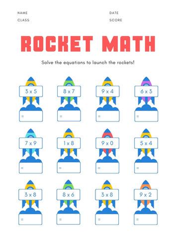 Rocket math 6-8 #3