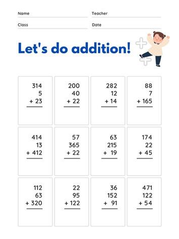 Addition 6-8 #9