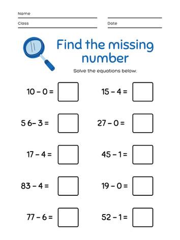 Missing Number 6-8 #2
