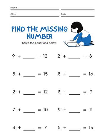 Missing Number 6-8 #15