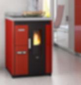 cocina de pellet Nina 7 kW eva calor
