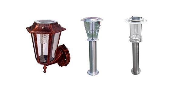 farolas lámparas solares de jardín