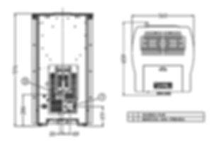 Medidas estufas pellet Circle Plus 11 kW Arce