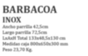 barbacoa acero inox