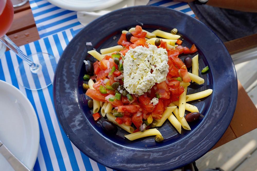 TheWayWeSawIt-Folegandros-Pasta-Salat-Feta-Cheese